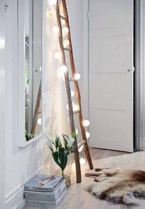 ladder interieur - versier je ladder met licht